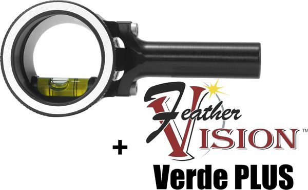 Axcel AccuView AV-25 PRO Scope - Black - with Feather Vision Verde Plus Lens