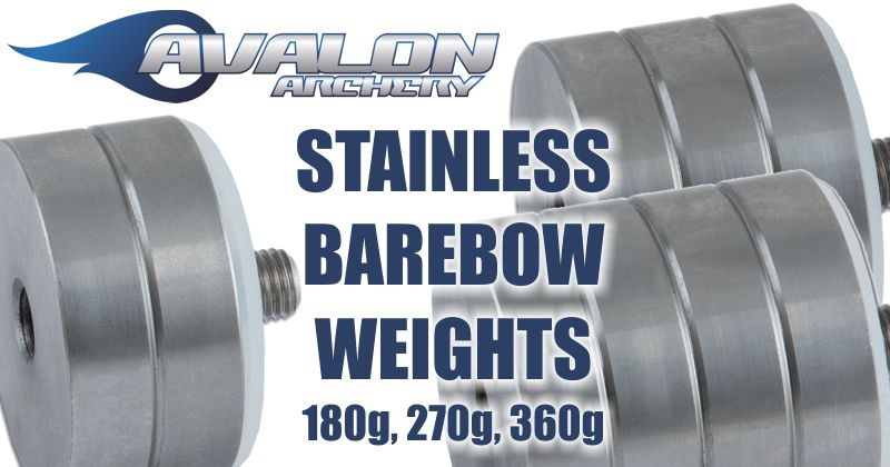 Avalon Barebow Weight - 360g - Stainless