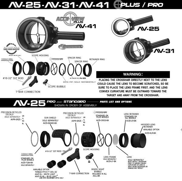 Axcel AccuView AV-31 Scope Black