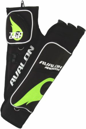 Avalon Tec One Quiver - Black/Green Flame
