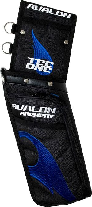 Avalon Tec One Field Quiver - Black/Blue Flame