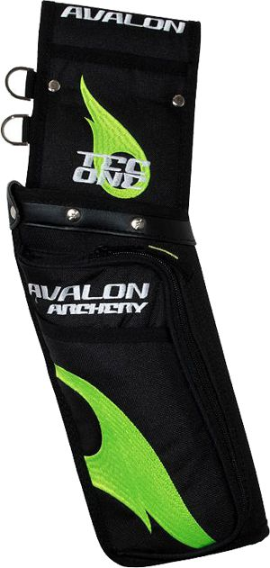 Avalon Tec One Field Quiver - Black/Green Flame