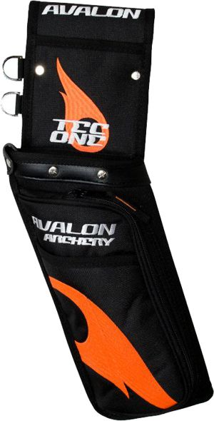 Avalon Tec One Field Quiver - Black/Orange Flame