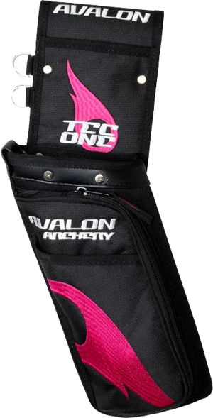 Avalon Tec One Field Quiver - Black/Pink Flame