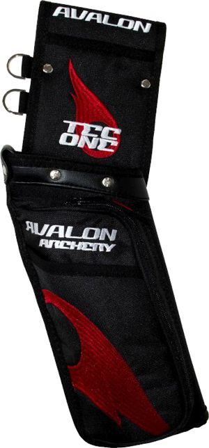 Avalon Tec One Field Quiver - Black/Red Flame