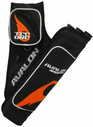 Avalon Tec One Quiver - Black/Orange Flame