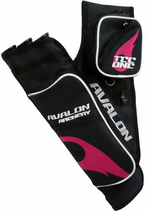 Avalon Tec One Quiver - Black/Pink Flame