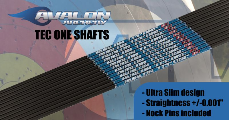 Avalon Tec One shafts (doz) with Pins - SALE