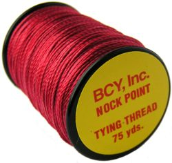 BCY Nock Point Tying Thread - red