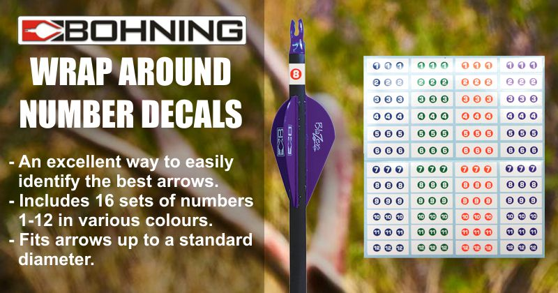 Bohning Wrap Around Number Decals | Alternative - Archery