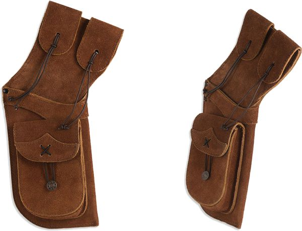 Buck Trail Traditional Buckskin Field Quiver - Honey Brown