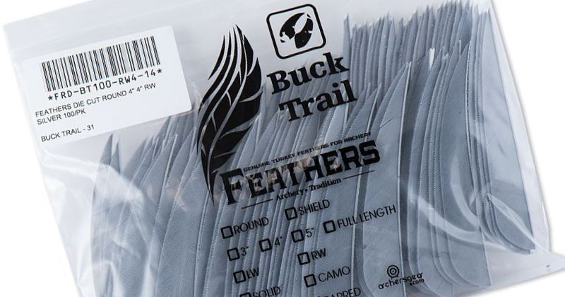 Buck Trail Feathers - 4in Round (pk/100)
