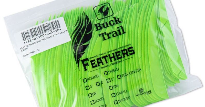 Buck Trail Feathers - 5in Round (pk/100)