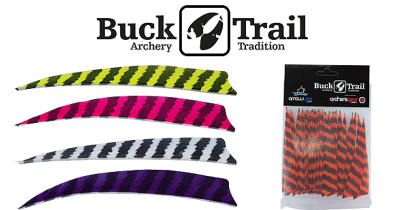 Buck Trail Feathers - 4in Round (pk/24) - BARRED
