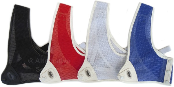 Cartel Midas 201 Chest Guard - black, red, white, blue