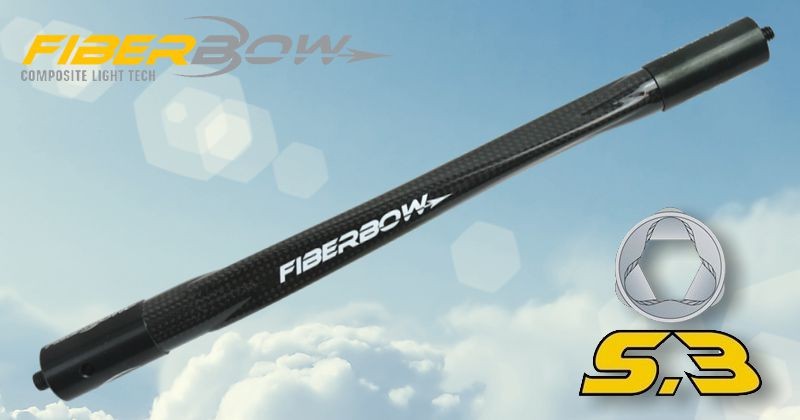 FiberBow S3 Carbon Short Rod - 15in