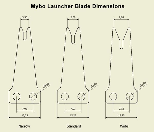 Mybo SPARE PART for Horizon - Spring Steel Blades