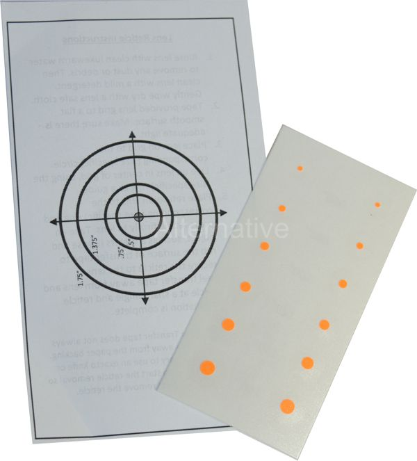 Precision Archery Reticles for Axcel Scopes - Small Dot - Orange
