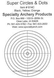 Specialty Archery cercles et points orange visant decals for Scope lentilles #614O