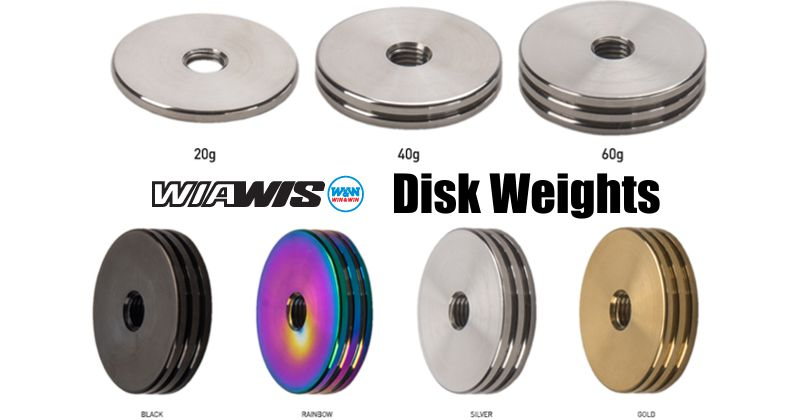 W&W Wiawis Disk Weight 60g (pk/3)